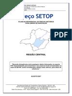 Tabela de preços SETOP 2007 região Central