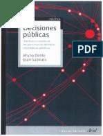 Decisiones públicas - Bruno Dente y Joan Subirats