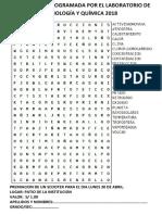 Actividad Programada Por El Laboratorio de Biología y Química 2018-Pupiletra