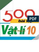 500 Bài Tập Vật Lý 10