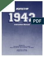 1942 by ROMSTAR - Capcom -- Instruction manual