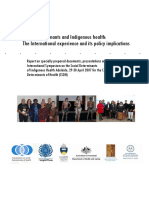 Social determinants and Indigenous health