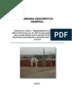 Memoria Descriptiva General - Octubre 2015
