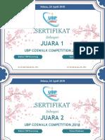 sertifikat coswalk ubp