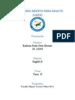 Ejercicios Tarea II Ingles II