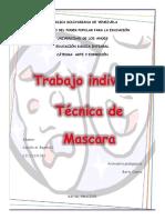 Trabajo Individual Tecnica de Mascara