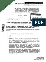 P.Ley para crear el Consejo Transitorio de la Magistratura