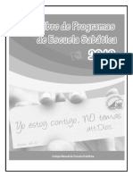 Libro Programa de Escuela Sabática 2018 - Don Profético