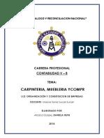 """INFORMACIÓN DE EMPRESA """"CARPINTERIA, MUEBLERIA Y COMPR"""""""
