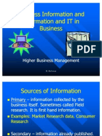 Business Information and Information and IT in Business v3