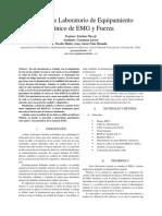 Informe de Laboratorio de Equipamiento Cl+¡nico de EMG y Fuerza