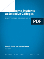 AEI Low Income Students at Selective Colleges 2018