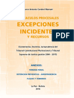 Excepciones e Incidentes Libro
