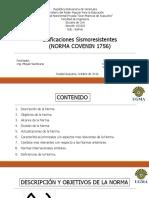 PRESENTACION COVENIN 1756. Edificaciones Sismoresistentes.