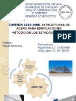 COVENIN 1618-98 Estr. de Acero Para Edificaciones. LRFD