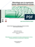 Cuadernos Metodológicos 1 Metodología para la Organización de Sistemas Institucionales de Archivos