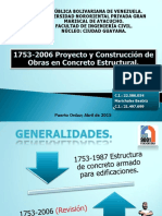 COVENIN 1753-06 Proy.constr. Obra en Concreto Est.