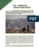 ARGENTINA Ambiente Tóxico Niños Marcados
