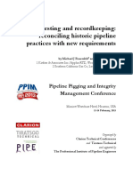 Historic Pipeline Pressure Testing and Recordkeeping Practices 2013 PPIM Paper
