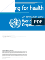 Introduction to the World Health Organisation