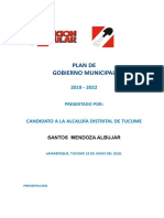 Plan de Gobierno Tucume 2019-2022