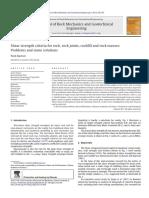 Criterios de resistencia al corte para rocas, fracturas y macizos rocosos - Barton 2013