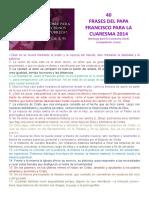 40 frases de SS. Francisco para la cuaresma 2014.doc