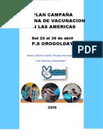 Plan de Campaña de Vacunación Sva 2018 Orogolday