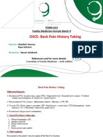 9. Back Pain History Taking