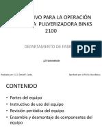 Instructivo Para Operación Binks 2100