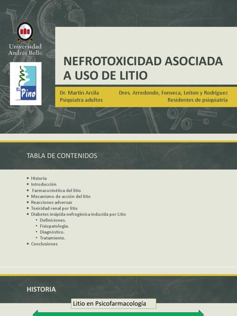 manejo clínico de la diabetes poliuria inducida por litio