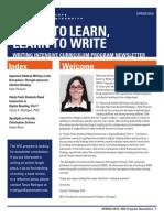 WIC Spring 2018 Newsletter