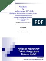 Hakekat, Model dan Teknik Pengutipan Tulisan Ilmiah