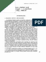 MEDEIROS, Fernando, 1987 - «Grupos Domésticos e Habitat Rural No Norte de Portugal (1908-1934)», Análise Social, Vol. 8, n. 95, 97-116.