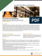 Diseño y Construcción de Obras Sanitarias
