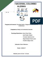 Trabajo de Mecanismo_Manejo de Herramientas Manuales-Mantenimiento_Predictivo