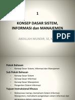 1. Sistem, Informasi Dan Manajemen