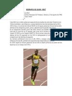 Biografia de Usain Bolt