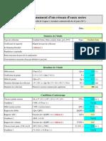Dimensionnement des eaux usées (Excel).xls