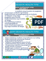 Rainy Season Tips- Diarrhea and Cholera