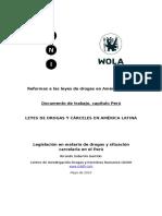Leyes y Drogas en El Perú