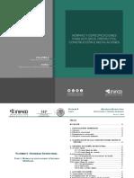 Normas y Especificaciones Para Estudios, Proyectos,Construcción e Instalaciones