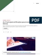 As 17 Principais Certificações Que Provam Domínio de Idiomas _ EXAME