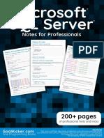Microsoft Sq l Server Notes for Professionals