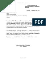 Solicitud de Certificado de Parametros Urbanos