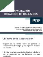 Presentacion Redaccion hallazgos