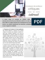 Developper des pratiques critiques sur internet