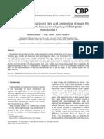 Phospholipid and Triacylglycerol Fatty Acid Composition of Major Life