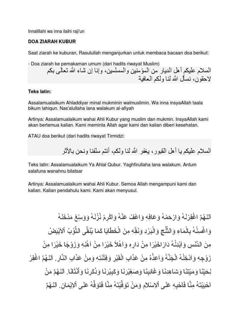 Kumpulan Doa Doa