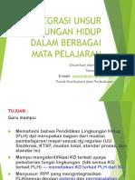 Integrasi Unsur Lingkungan Hidup Dalam Berbagai Mata Pelajaran (2)